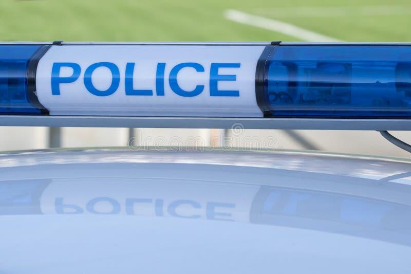 Politiewagenteken Sirenelicht royalty-vrije stock fotografie