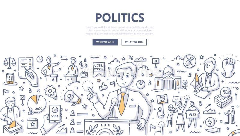 Politik klottrar begrepp royaltyfri illustrationer