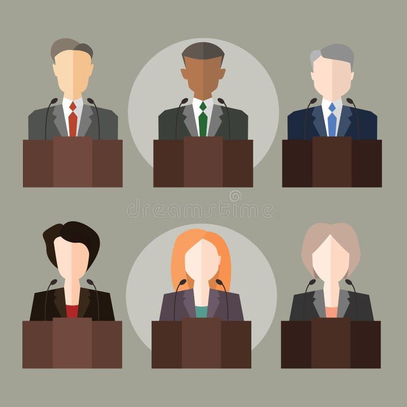 politikar stock illustrationer