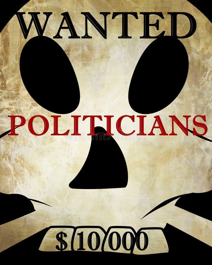 Politikar royaltyfri illustrationer