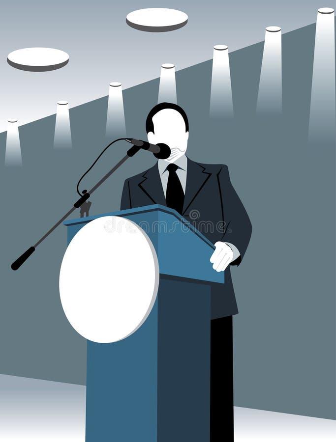 Politikar eller vd vektor illustrationer