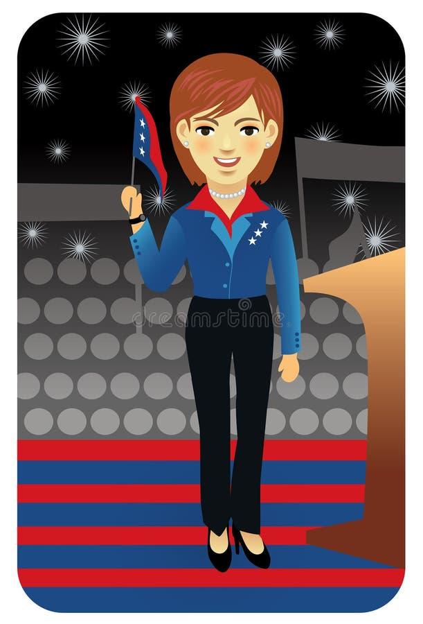politikaryrkeserie royaltyfri illustrationer
