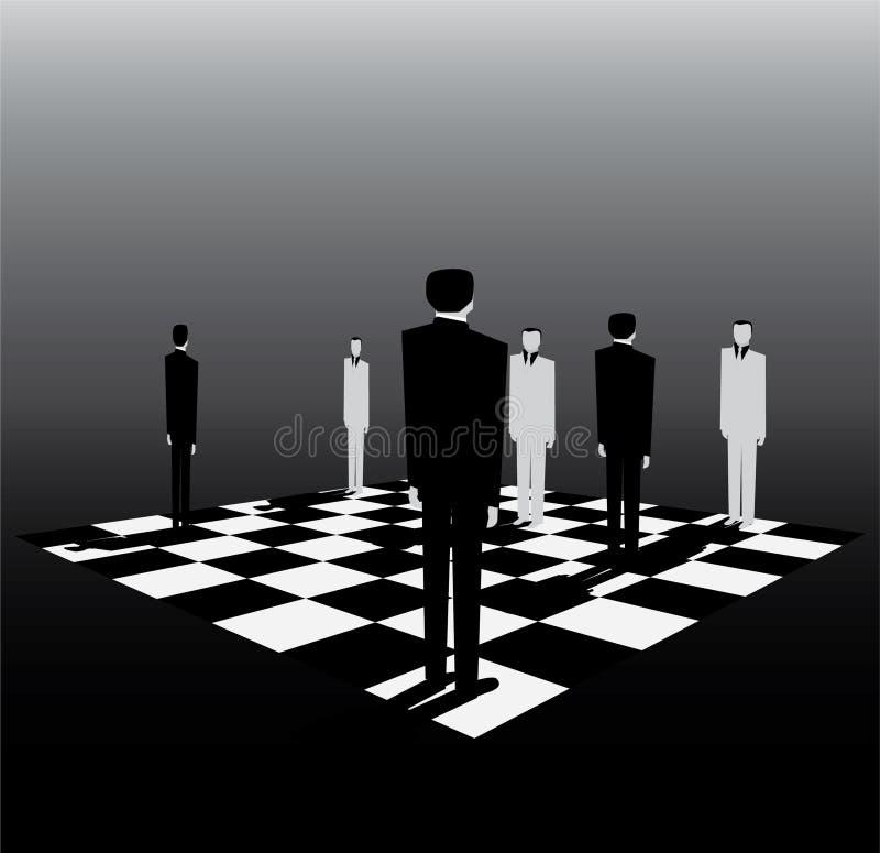 Politiken är som en lek av schacket royaltyfri illustrationer