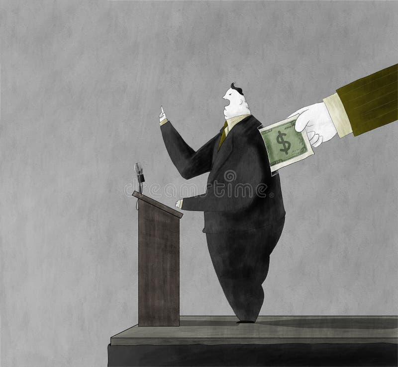 Politiker Rental royaltyfri illustrationer