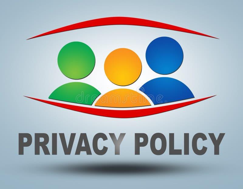 Politique de confidentialité illustration stock