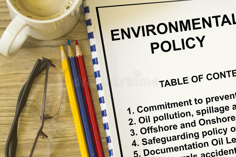Politique environnementale image libre de droits