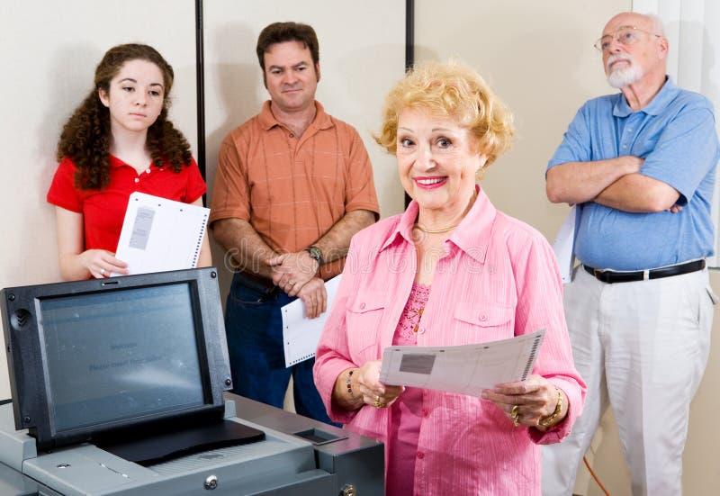 Politisch aktiver Älterer stockbilder
