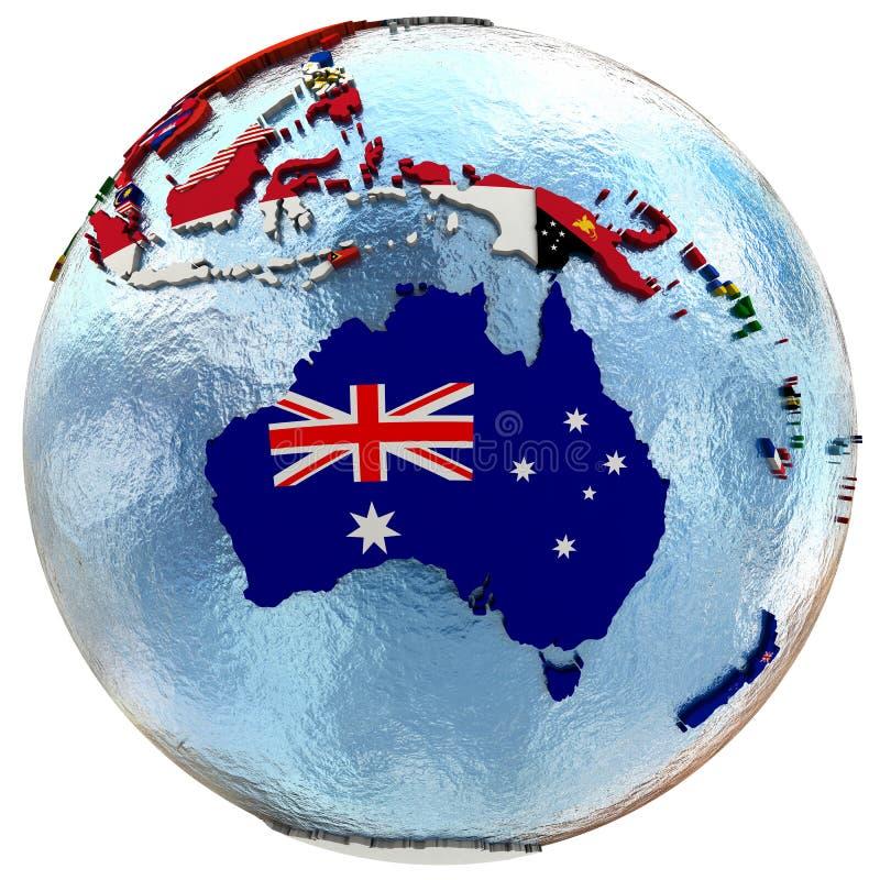 Politische Australien-Karte stock abbildung