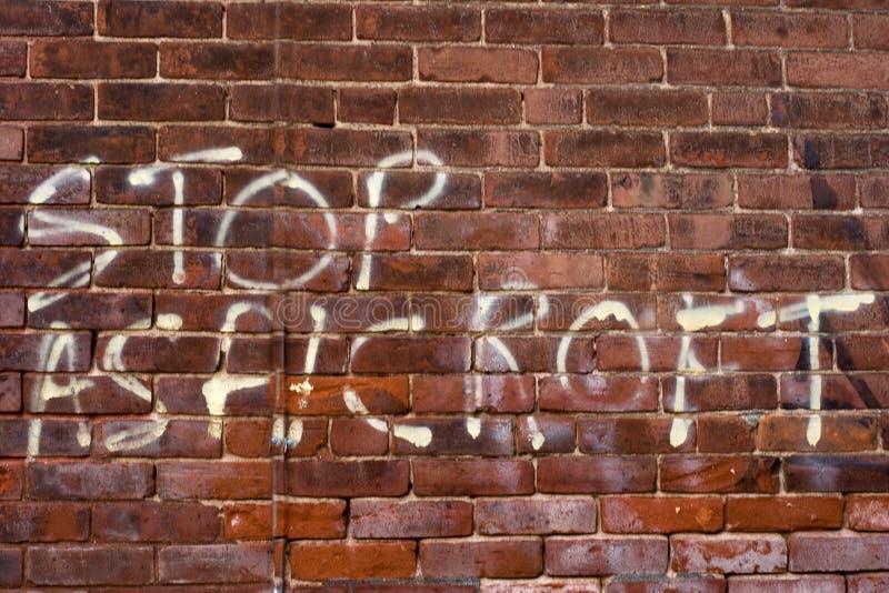 Politische Graffiti lizenzfreie stockfotos