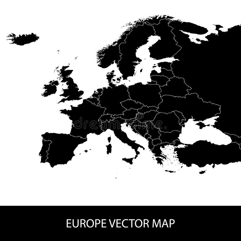 Politische Karte Europas stock abbildung