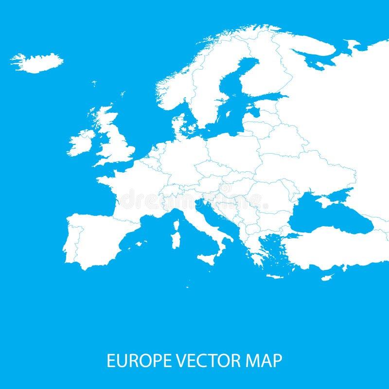 Politische Karte Europas vektor abbildung