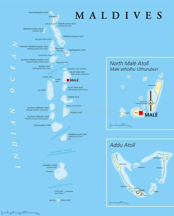 politische karte malediven vektor abbildung illustration von kette 74516994. Black Bedroom Furniture Sets. Home Design Ideas
