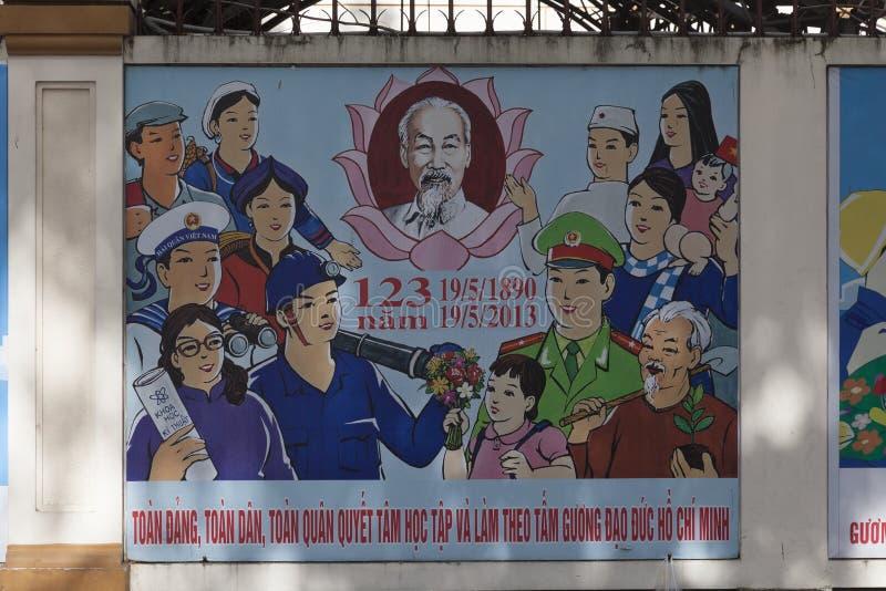 Politische Propaganda in Ho Chi Minh lizenzfreie stockfotos