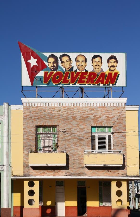 Politische Propaganda in Kuba lizenzfreies stockbild
