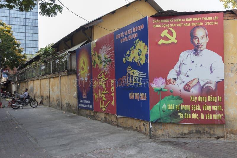 Politische Propaganda in Vietnam stockfotografie
