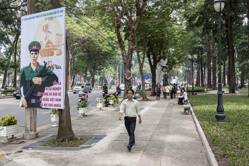 Politische Propaganda in Vietnam lizenzfreies stockfoto