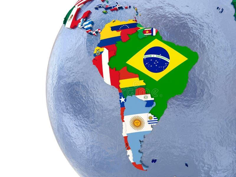 Politische Südamerika-Karte lizenzfreie abbildung