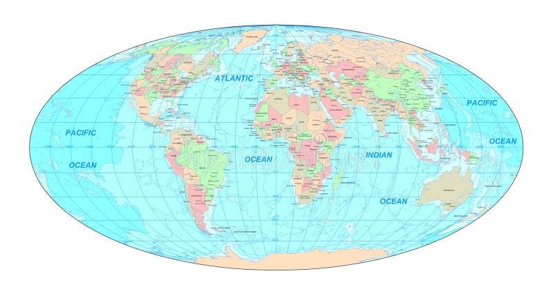 Politische Weltkarte vektor abbildung