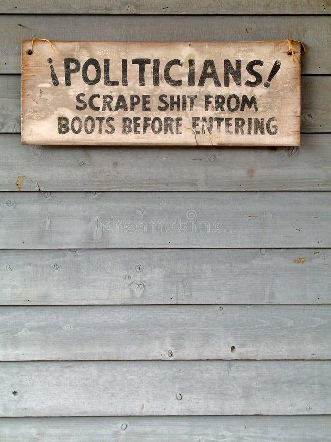 Politisches Zeichen lizenzfreie stockfotos