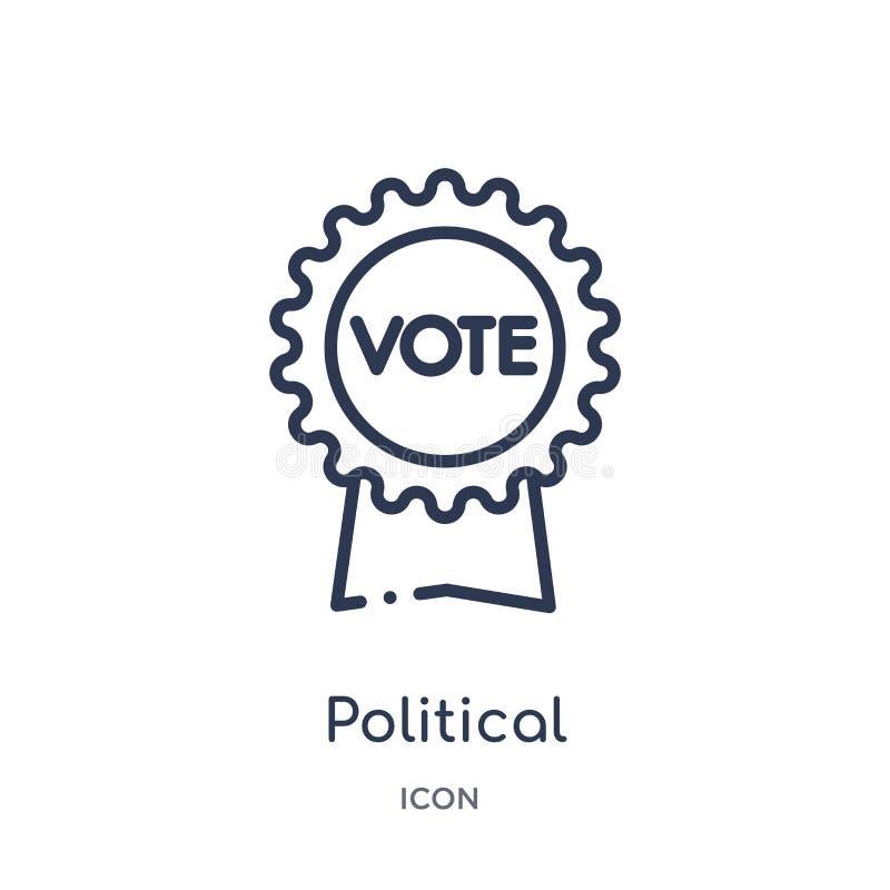 politisk amerikansk symbol för valpublicitetemblem från politisk översiktssamling Tunn linje politiska amerikanska val vektor illustrationer