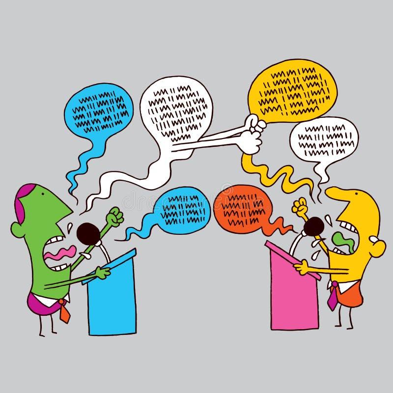 Politisk debatt royaltyfri illustrationer