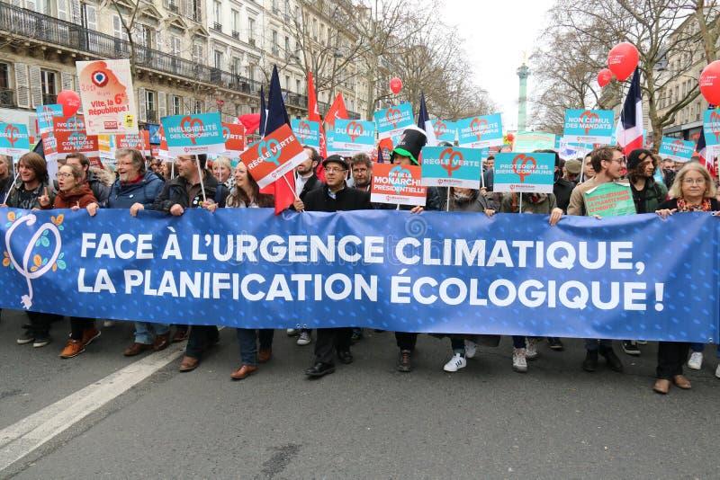 Politisk demonstration i Frankrike royaltyfri bild
