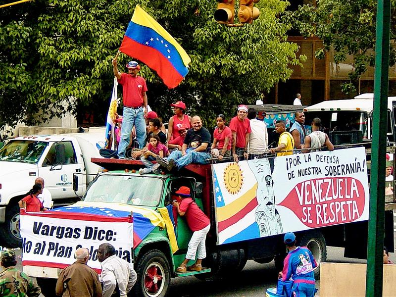 Politisk demonstration i Venezuela arkivfoto
