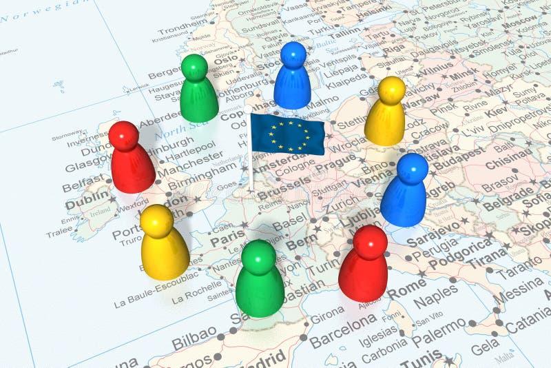 politisk europeisk händelse royaltyfri illustrationer