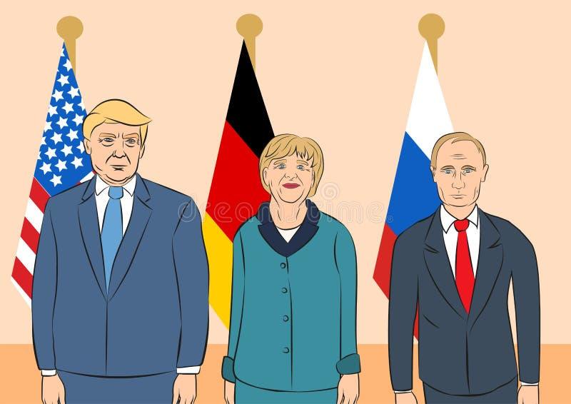 Politisk ledareillustration royaltyfri illustrationer