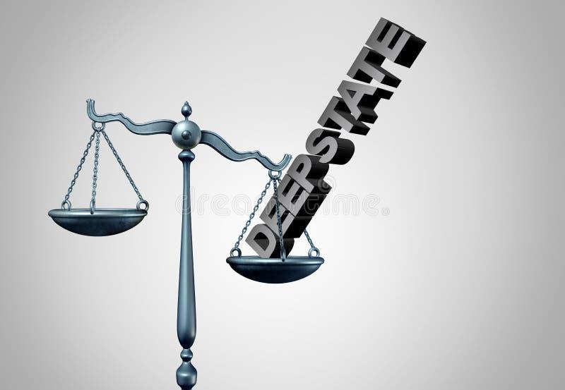 Politisk rättvisa för djupt tillstånd vektor illustrationer