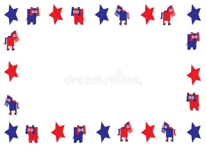 Politisk ram på vit stock illustrationer