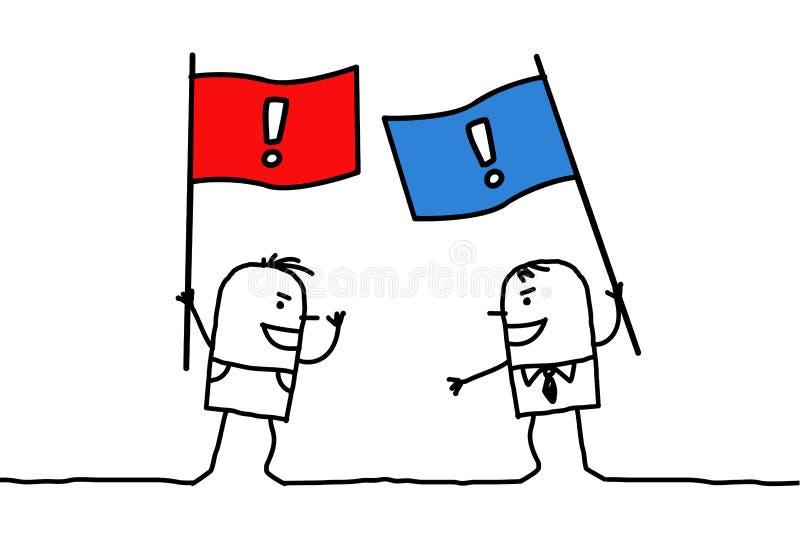 politiska motsättningåsikter stock illustrationer