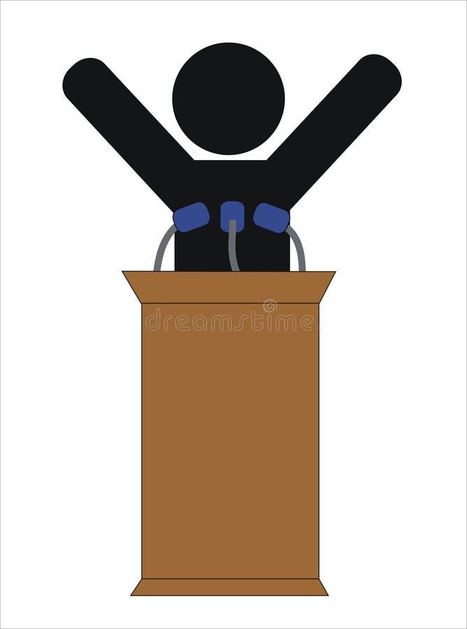 politiskt royaltyfri illustrationer