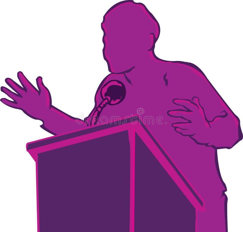 Politiskt anförande fotografering för bildbyråer