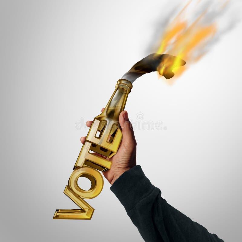 Politiskt våld stock illustrationer