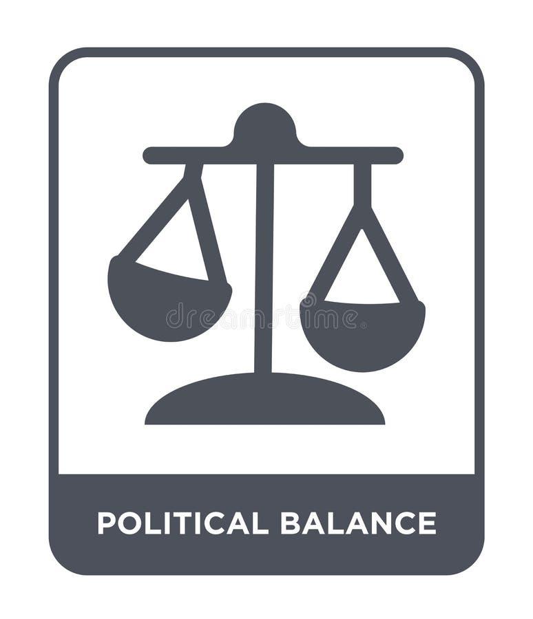 polityczna balansowa ikona w modnym projekta stylu polityczna balansowa ikona odizolowywająca na białym tle polityczna balansowa  ilustracja wektor