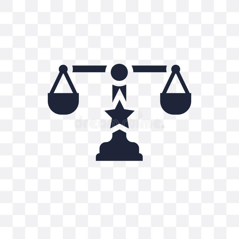 polityczna Balansowa przejrzysta ikona polityczny Balansowy symbolu des ilustracja wektor