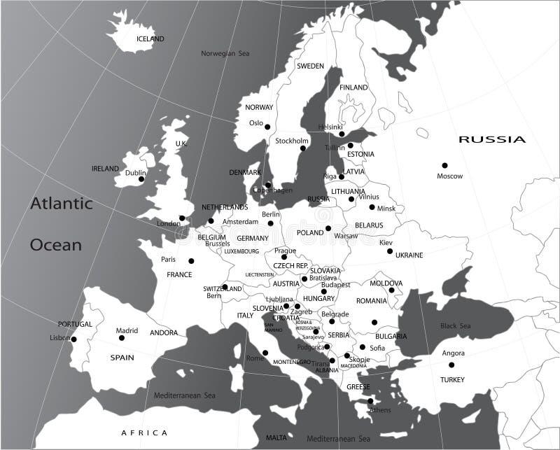 polityczna Europe mapa royalty ilustracja