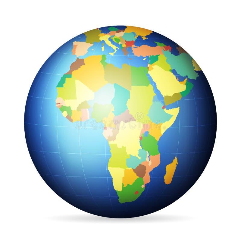 Polityczna kula ziemska Afryka