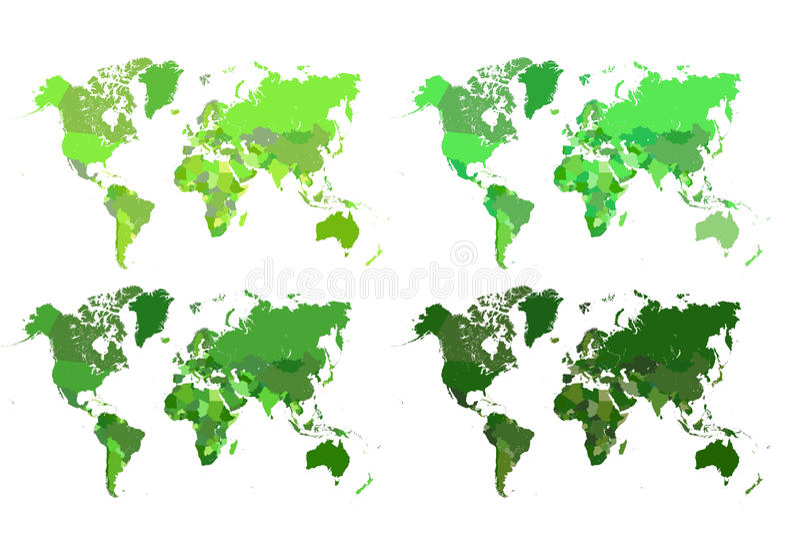 Polityczna mapa świat obrazy royalty free