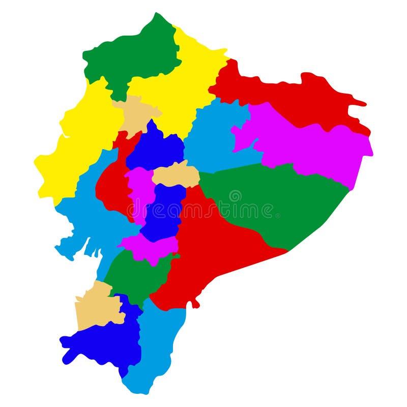 Polityczna mapa Ekwador royalty ilustracja