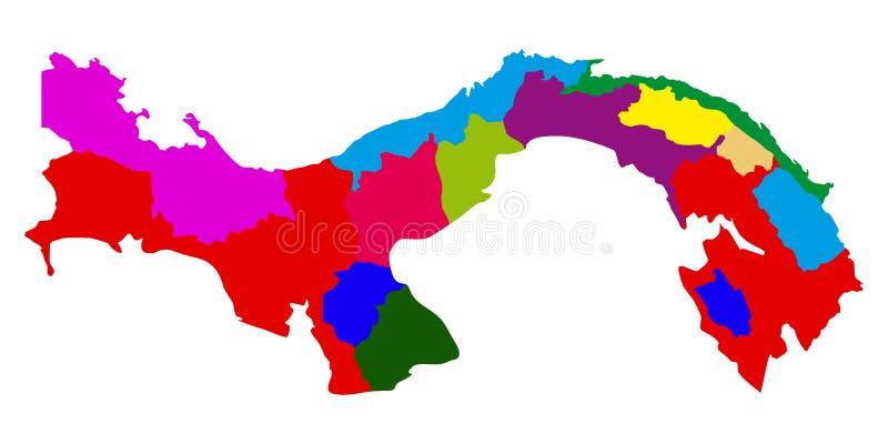 Polityczna mapa Panama royalty ilustracja