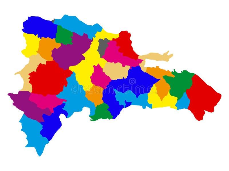 Polityczna mapa republika dominikańska royalty ilustracja