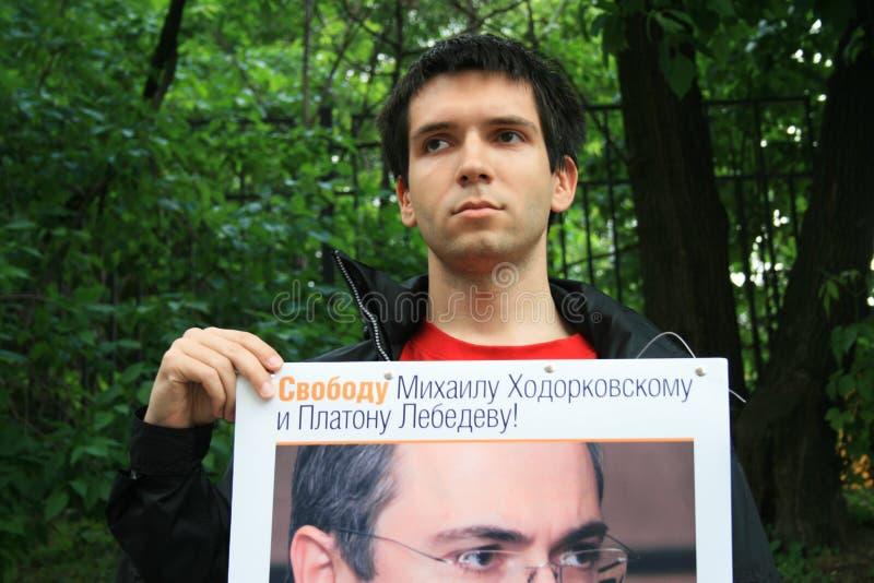 Download Polityczny Aktywista Oleg Kozlovsky Protestować W Poparciu Dla Khodorkovsky Zdjęcie Editorial - Obraz złożonej z russia, moscow: 57669046