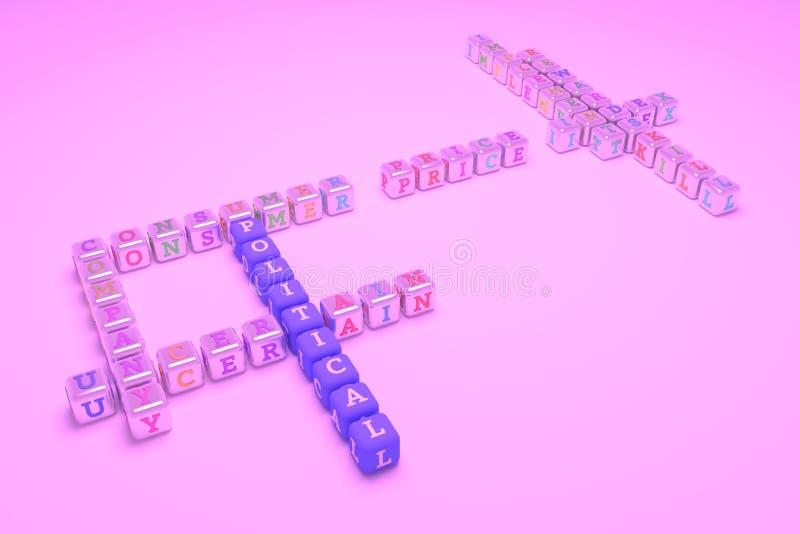 Polityczny, biznesowy słowa kluczowego crossword, Dla strony internetowej, graficznego projekta, tekstury lub t?a, obraz royalty free