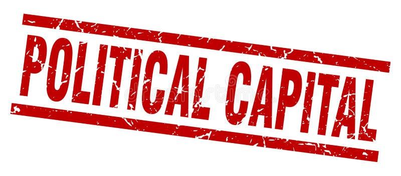 polityczny kapitału znaczek ilustracja wektor