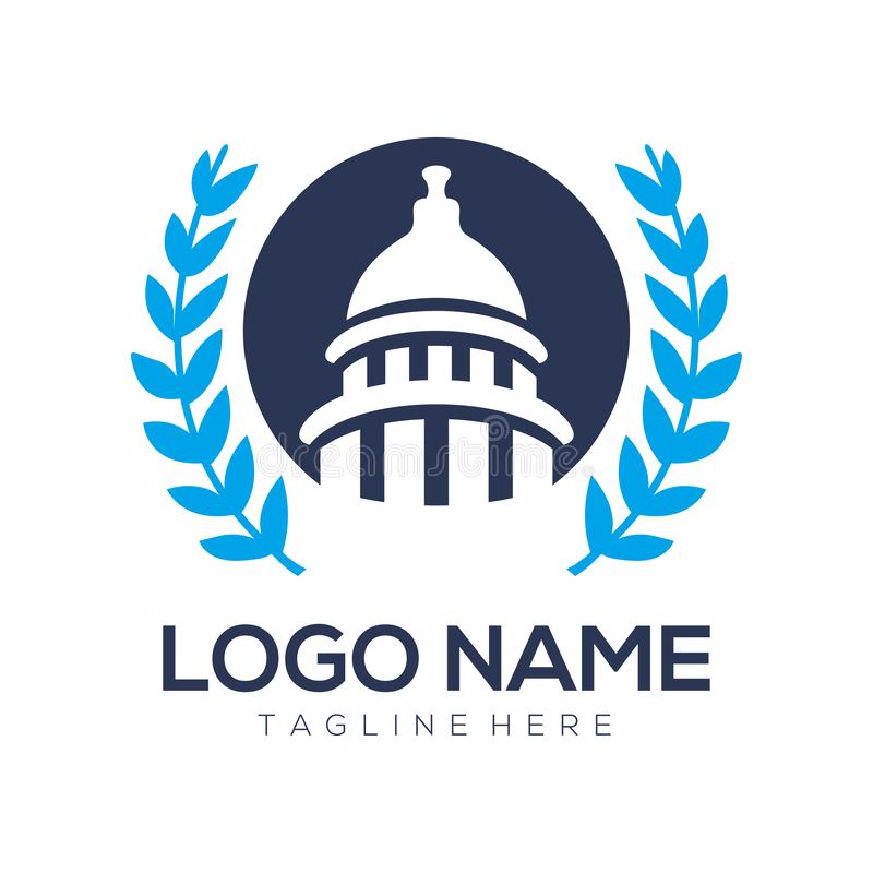 Polityczny logo i ikony projekt royalty ilustracja
