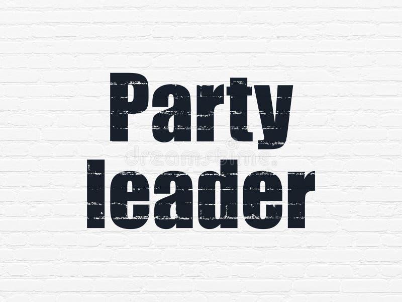 Polityczny pojęcie: Lider Partii na ściennym tle ilustracja wektor