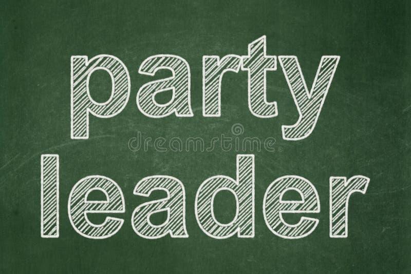 Polityczny pojęcie: Lider Partii na chalkboard tle royalty ilustracja