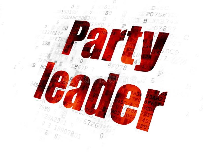 Polityczny pojęcie: Lider Partii na Cyfrowego tle ilustracji